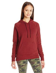 Volcom Juniors Lived In French Terry Pullover Hoodie Burgundy Medium *** Want additional info? Click on the image.
