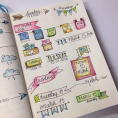 You don't have to be an artist to bring your BuJo to life. Check out some of our favourite Bullet Journal banners and tips on how to draw them! Bullet Journal Kawaii, Bullet Journal Décoration, Journal Layout, Journal Pages, Journal Ideas, Bullet Journal Inspiration, Work Inspiration, Smash Book, Scrapbook