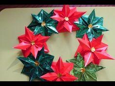 Origami Maniacs 93: Beautiful Christmas Wreath...... - YouTube