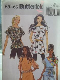 Misses' Fashion Blouse Butterick B5463 Sewing by WitsEndDesign