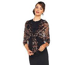 Joan Rivers Lavish Luxury Sequin Scarf