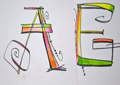 Hand lettering - Art Lettering - Calligraphy - Lettering Techniques - Lisa Engelbrecht