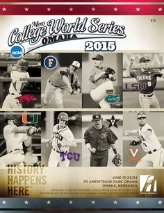 Dad taught you to love the game. Show him your appreciation with a 2015 College World Series program. #baseball #cws #fathersday