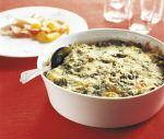 Pastagratäng med grönkål och skinka