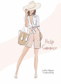 Hello Summer, Happy Summer, Summer 2016, Hello August, June, Cute Girl Wallpaper, Fashion Artwork, Summer Breeze, Fashion Quotes