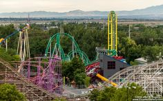 Lagoon park in Farmington, Utah - just north of Salt Lake City, UT.  Rides, entertainment, water park, food and fun!