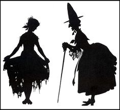 Arthur Rackham--Cinderella Silhouette --Fairy Godmother, luv these