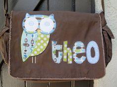 darling owl messenger bag by GirlieBirdBoutique