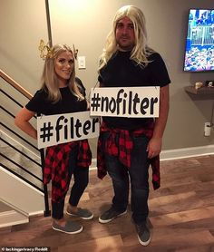 Filter, no filter! Kelsey Blong and Anthony Del Quadro used the butterfly Snapchat filter as inspiration for a Halloween costume