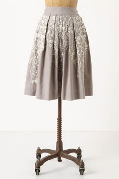Anthropologie - Hanging Wisteria Skirt