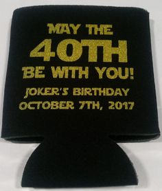 Odyssey Custom Designs offers Custom Koozies and Can Coolers 40th Birthday Parties, Birthday Favors, Star Wars Party Favors, Cooler Designs, Gender Reveal, Birthdays, Baby Shower, Printed, Friends