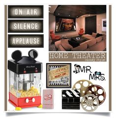 """""""Home Theater - Disney Style!"""" by nonniekiss ❤ liked on Polyvore featuring interior, interiors, interior design, home, home decor, interior decorating, Disney, Nespresso and Spicher and Company"""