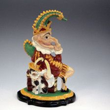 ANTIQUE STAFFORDSHIRE POTTERY FIGURE OF PUNCH C1855 -