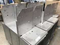 From small boxes to large enclosures, all sorts of housings are manufactured at V and F sheet Metal. Take a look at our sheet metal BLOG to see hundreds of stories on past projects. Great source of material when thinking about new sheet metal component designs. Cnc Press Brake, Folding Machine, Metal Company, Sheet Metal Work, Aluminum Tray, Cad Cam, Laser Machine, Small Boxes, Folded Up