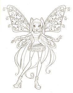 Winx Boyama Resim Winx Boyama Sayfası 25 Lay Fairy Coloring