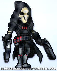 Overwatch Reaper Perler Beads by kamikazekeeg