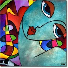 Promise Me - Alle schilderijen Kunst Picasso, Picasso Art, Pottery Painting, Silk Painting, Art Therapy Projects, Art Projects, Tableau Pop Art, Abstract Face Art, Cubist Art