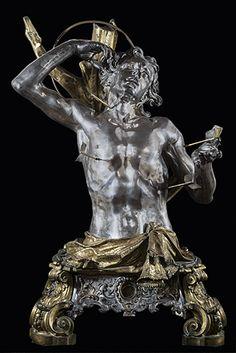 Lorenzo Vaccaro - Domenico Antonio Ferro, San Sebastiano (1709), busto argenteo, cm 110, Aversa, Napoli, cattedrale di S. Paolo, Museo Diocesano.