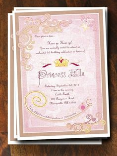 Princess Party Invitation.