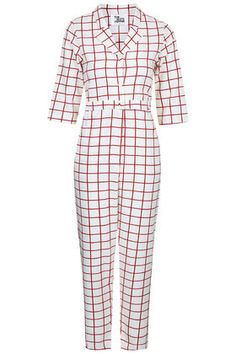 **Square Print Jumpsuit by The Whitepepper