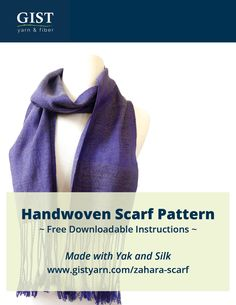 Free Downloadable Handwoven Scarf Pattern