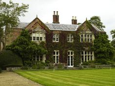 Purley Hall, a ten-bedroom manor house located in Berkshire (pronounced Bark-shire), just west of London. Built in 1609 in the Jacobean era by the grandfather of Queen Anne.