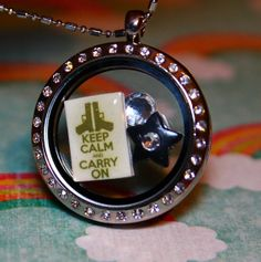 Keep Calm and Carry On Floating Charm  Gun Rights Charm for Living Lockets like South Hill and Origami Owl Custom Charm by RepliKitty, $6.00