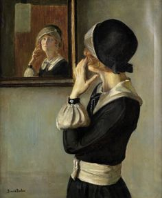 Redhead's Reflection, by Donald Blagge Barton (1903-1990).