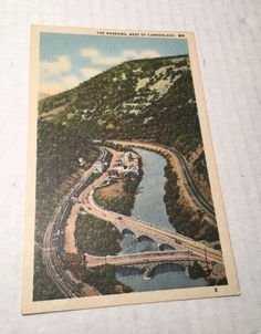 Vintage Postcard The Narrows, West of Cumberland Maryland MD Unposted