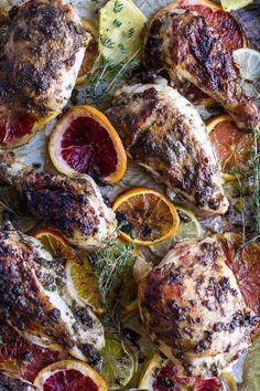 Jamaican Jerk and Citrus Pineapple Roasted Chicken.