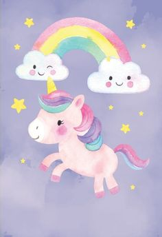 'Friendly Unicorn' - Birthday thank you card template you can print or send online as eCard for free. Personalize with your own message, photos and stickers.