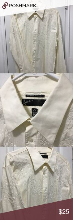 Howe XL Button Down Shirt Cream Color Like new XL cream colored Howe button down shirt. Has stretchy fabric and very comfortable. Howe Shirts Dress Shirts
