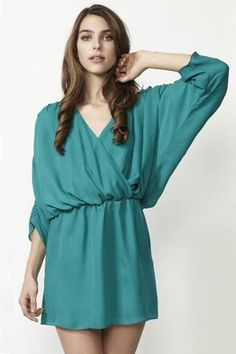 rouched sleeve dress / parker