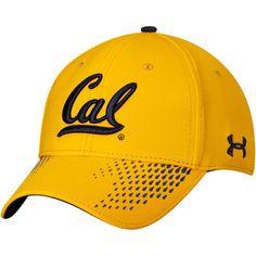 sale retailer fff49 72703 Men s Under Armour Gold Cal Bears Sideline Renegade Accent Flex Hat