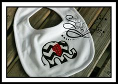 Elephant Applique Baby Bib