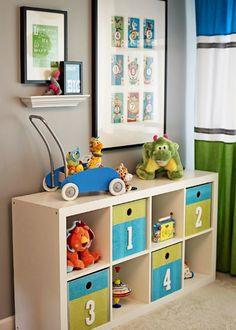 7 modern nurseries featuring Ikea Expedit / Kallax