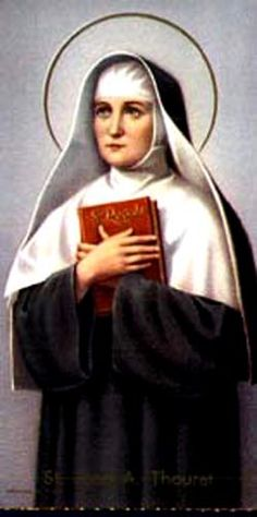 St. Jane Antide Thouret, Foundress of the Institute of the Daughters of Charity in 1798. Jane entered the Sisters of Charity of St. Vincent de Paul but was forced to return to secular life by the French Revolution. In Besancon France, she started a school for poor girls which later became the Daughters of Charity.