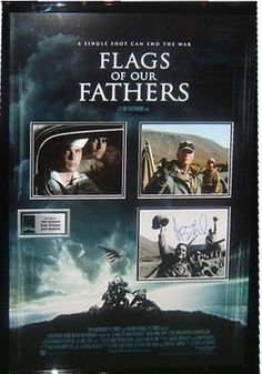 Flags of Our Fathers Movie Photos Signed by 3 - Antiquities