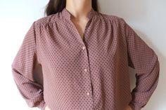 Fluid bole dot vintage blouse M Japan kamomeya on Etsy