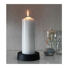 "FENOMEN Unscented block candle - 11 ½ "" - IKEA"