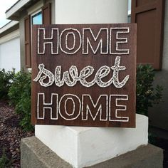 Home Sweet Home String Art 12 square string by CraftyLittlePeas