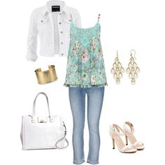 Fun and summery by freda-sandell on Polyvore featuring polyvore, fashion, style, M&Co, maurices, ESPRIT, Brooks Brothers, Roberto Coin and Blue Nile