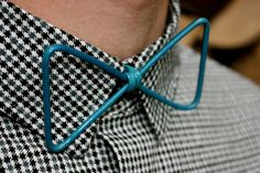Thin Blue Wire BowTie by treiStore on Etsy, Not just anyone can wear carry off this look! #treiStore