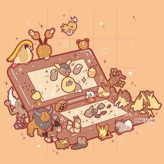 Cute Drawings, Animal Drawings, Pokemon Shop, Anime Manga, Anime Art, Photo Pokémon, Powerful Pokemon, Nostalgia Art, Cute Pokemon Wallpaper