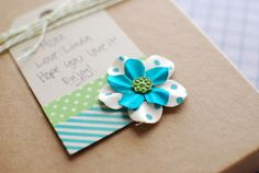 Craftaholics Anonymous® | Washi Tape Gift Tag