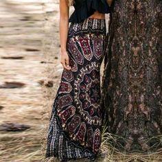 Vintage Retro Long Maxi Skirts