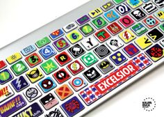 Awesome Keyboard Super Hero Skin :) I want this so badly
