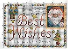 Christmas Post Card Cross Stitch Pattern                                                                                                                                                     More