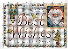 Christmas Post Card Cross Stitch Pattern