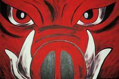 HOG CANVAS 16X20 Razorback Painting by kdsaDesigns on Etsy, $50.00